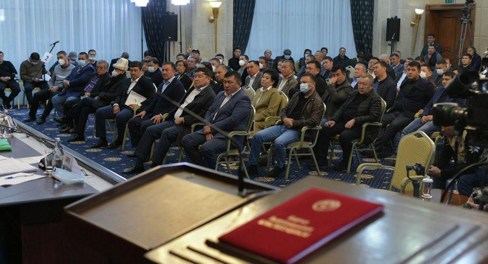 Депутаты в госрезиденции Ала-Арча. Архивное фото