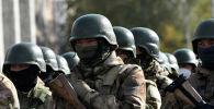 Военнослужащие в Бишкеке