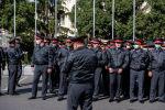 Сотрудники МВД на площади Ала-Тоо в Бишкеке. Архвное фото