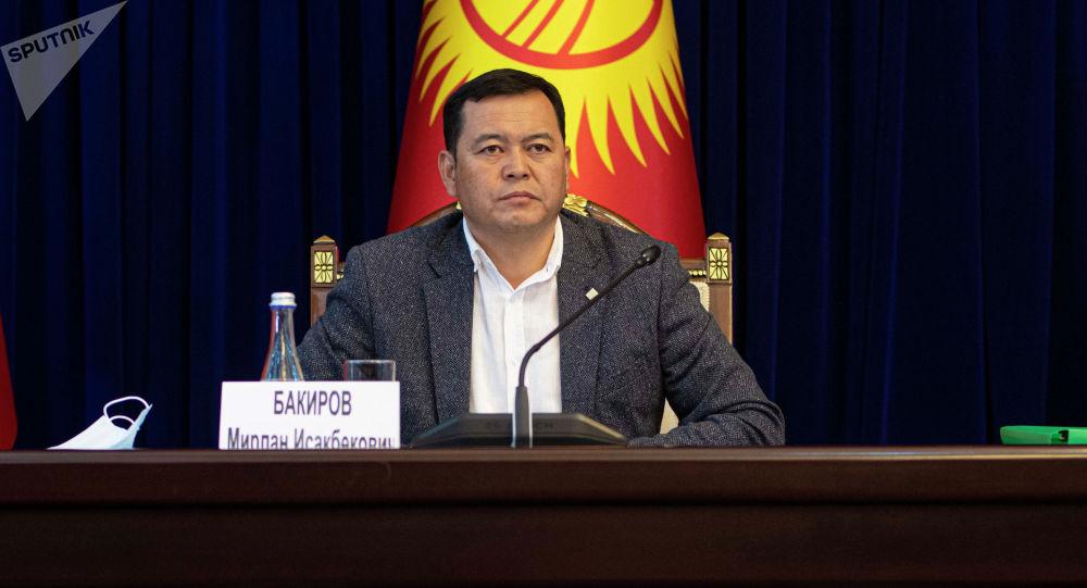 Жогорку Кеңештин төрагасынын орун басары Мирлан Бакиров. Архив