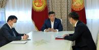 Президент Кыргызской Республики Сооронбай Жээнбеков принял главу внешнеполитического ведомства страны Чынгыза Айдарбекова