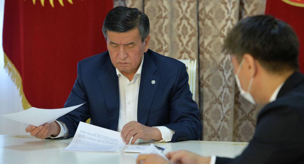 Өлкө башчы Сооронбай Жээнбеков тышкы иштер министри Чыңгыз Айдарбековду кабыл алды.