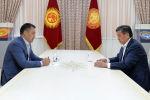 Президент Кыргызской Республики Сооронбай Жээнбеков встретился с Садыром Жапаровым. 13 октября 2020 года