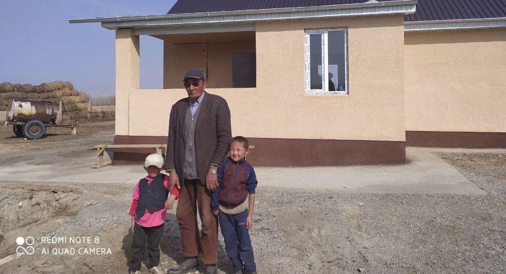 Ат-Башыдагы памирлик кыргыз үй-бүлөсүнө курулган төрт бөлмөлүү үй