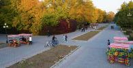 Люди в Дубовом парке в Бишкеке. Архивное фото