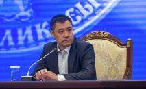 Исполняющий обязанности президента, премьер-министр Садыр Жапаров