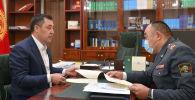 Премьер-министр Садыр Жапаровдын жана ички иштер министри Улан Ниязбековдун жолугушу