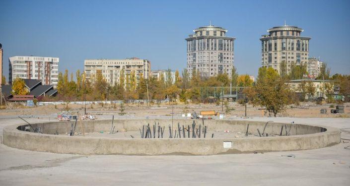 Строительство парка Балалык на Южных воротах. Архивное фото