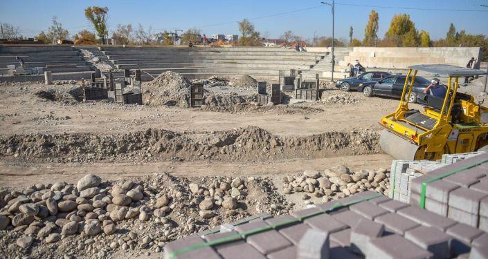 Ход строительства новой зоны отдыха Ынтымак — вторая очередь в Бишкеке