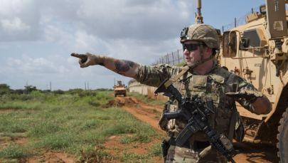 Военнослужащий США на территории Сомали. Архивное фото