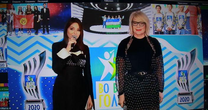 Ведущая проекта Диля Долинская и продюсер Лина Арифулина международного конкурса Во весь голос!
