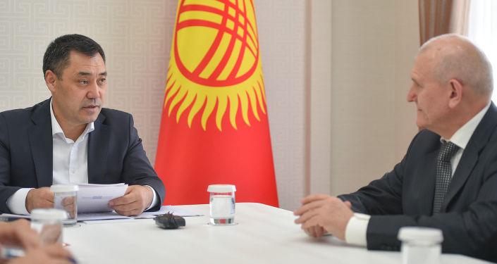 Исполняющий обязанности Президента, Премьер-министра Кыргызской Республики Садыр Жапаров сказал на встрече с Чрезвычайным и Полномочным послом Российской Федерации в Кыргызской Республике Николаем Удовиченко. 21 октября 2020 года