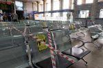 Кресла в зале ожидания железнодорожного вокзала в Алма-Ате. Архивное фото