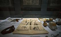 Экспонаты на открывшейся медицинской выставке в музее. Архивное фото