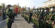 В Государственной пограничной службе в Ошской области принесли присягу 160 призывников