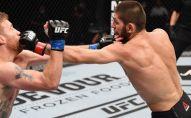 Джастин Гэтжи и Хабиб Нурмагомедов в бою за титул чемпиона UFC в легком весе