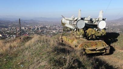 Степанакертке жакын жерде зенит-ракеталык комплекси. Архивдик сүрөт