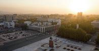 Бишкектеги Ала-Тоо аянтынын абадан көрүнүшү