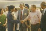 Визит Аскара Акаева в Индию, Сактанбек Кадыралиев третий справа. Дели, февраль 1999 года