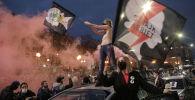 Польшада бойдон алдырууга тыюу салган мыйзамга каршы болгон митинг