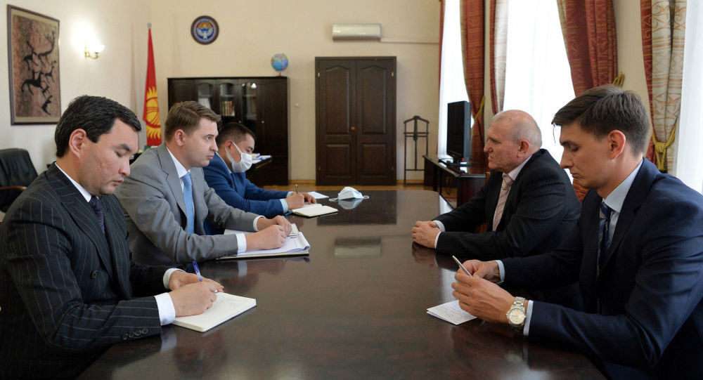 Встреча Первого вице-премьер-министра с Послом России в Кыргызстане