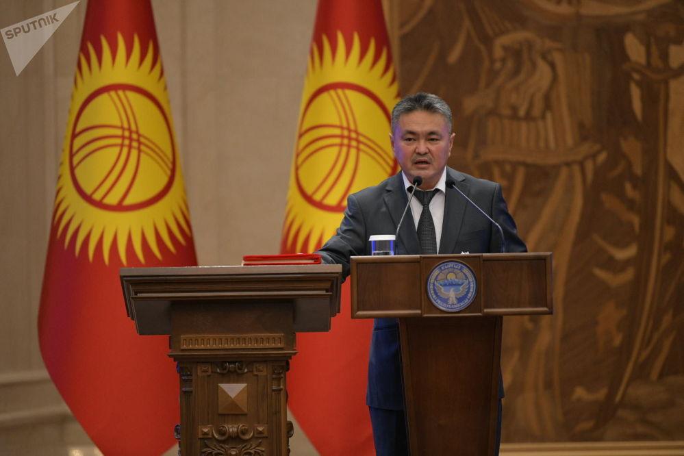 Министр финансов Кыялбек Мукашев. Ранее он занимал пост начальника управления планирования расходов отраслей экономики министерства.