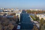 Вид на утреннюю площадь Ала-Тоо с высоты. Архивное фото