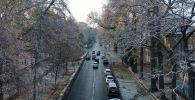 Вид на проспект Эркиндик с высоты в Бишкеке. Архивное фото