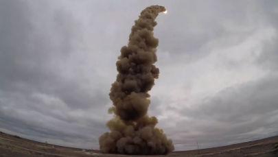 Министерство обороны России представило видео пуска новой противоракеты системы ПРО на полигоне Сары-Шаган в Казахстане.