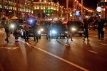 Участники несанкционированной акции протеста белорусской оппозиции на проспекте Независимости в Минске.