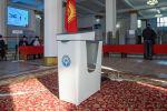 Ход голосования на избирательном участке в Бишкеке. Архивное фото