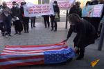 Группа активистов устроила акцию протеста против фильма Борат и его сиквела у генконсульства США в Алматы (Казахстан).