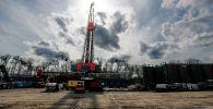 Буровая площадка для добычи сланцевой нефти в Сент-Мэри, штат Пенсильвания. 12 марта 2020 года