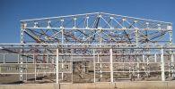 Ход строительства спортивного комплекса в селе Байзак Нарынской области