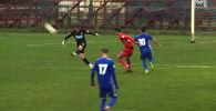 В одном из матчей чемпионата Румынии вратарь Рэзван Удря забил красивый гол сверхдальним ударом из своей штрафной.