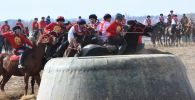Ысык-Көлдүн Чолпон-Ата шаарындагы ат майданда көк бөрү боюнча КР президентинин кубогу старт алды