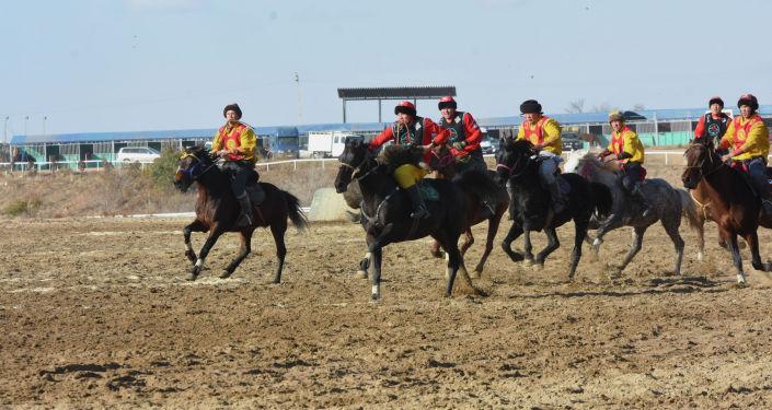 Матч по кок бору в городе Чолпон-Ата Иссык-Кульской области в рамках кубка президента КР