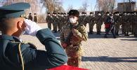 Өлкөнүн Куралдуу күчтөрүнүн Улуттук гвардиясынын 10126 жана 10127 аскер бөлүгүнүн жоокерлери ант беришти