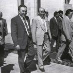 Насирдин Исанов с Нурсултаном Назарбаевым и Аскаром Акаевым