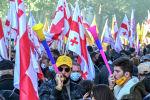 Сторонники грузинской оппозиции на митинге в центре Тбилиси. 8 ноября 2020 года