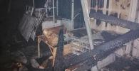 Последствия крупного пожара на Орто-Сайском рынке в Бишкеке. 9 ноября 2020 года