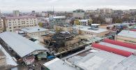 Последствия крупного пожара на Орто-Сайском рынке в Бишкеке