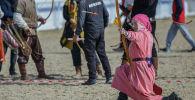 Кыргызстандын Эгемендүүлүк күнүнө арналган ат оюндарынын алкагында салбуруун боюнча мелдеш жыйынтыкталды