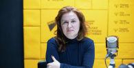 Президент Центра развития возобновляемых источников энергии и энергоэффективности Татьяна Веденева на радиостудии Sputnik Кыргызстан