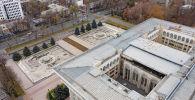 Вид на здание Белого дома с высоты. Архивное фото