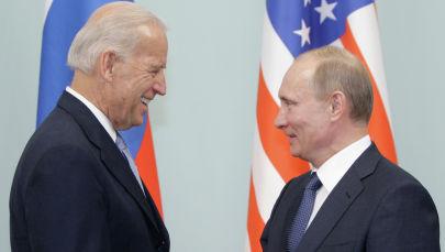 Владимир Путин менен Жо Байдендин жолугушу. Архив
