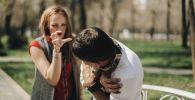Ссора между мужчиной и женщиной. Архивное фото