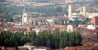 Вид на испанский город Паленсия. Архивнео фото