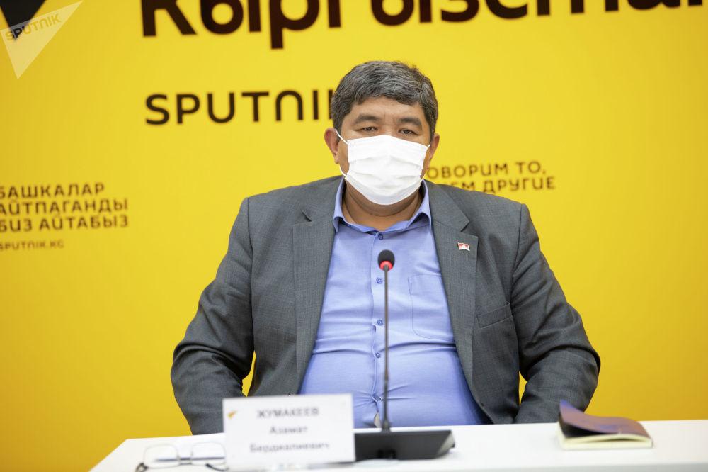 Заведующий юридическим отделом Минздрава Азамат Жумакеев