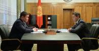 И.о. президента, торага Жогорку Кенеша Талант Мамытов встретился с и. о. премьер-министра страны Артемом Новиковым